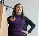 Celestina Barbosa-Leiker speaks at the Inland Northwest Research Symposium