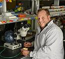 Jason Gerstner inside his research lab
