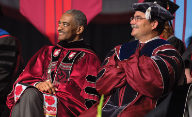 Elson Floyd and Dan Bernardo