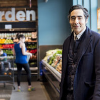 Dr. Pablo Monsivais at Fresh Basket grocery store