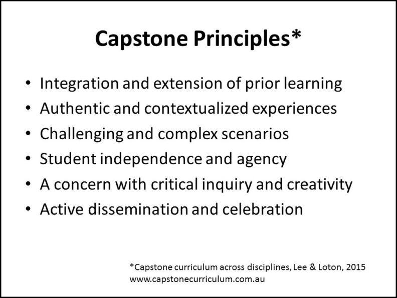 capstone principles