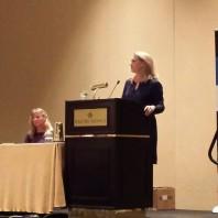 "Keynote speaker, Piper Kerman, author of ""Orange is the New Black"" [right]."