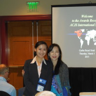 PhD student, Ming-Li Hsieh [left], poses with her mother [right].