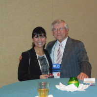 National Institute of Justice Director and our PhD alum, Nancy Rodriguez [left] and her mentor, Nicholas Lovrich [right].