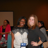 PhD students Brianne Posey [left] and Cheyenne Foster [right].
