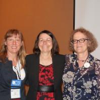 Faith Lutze [left], PhD alum Fran Bernat [center], and Mary Stohr [right].
