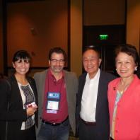 Nancy Rodriguez [far left], Craig Hemmens [center left], Rolando del Carmen and his wife [right].