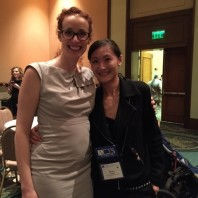 Melanie Neuilly [left] and PhD student Ming-Li Hsieh [right].