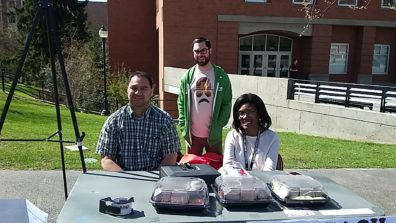 Moana Hafoka (doctoral student), Nicholas Pimley (doctoral candidate), & Brianne Posey (doctoral student) sold baked goods on Glenn Terrell Mall at WSU Pullman to raise awareness and funds for Criminal Justice and Criminology graduate student endeavors.