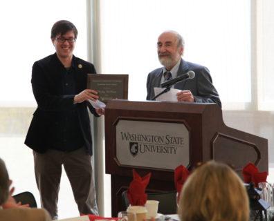 Drs. Zachary Hamilton and Otto Marenin smiling at the 2014 Awards Ceremony.