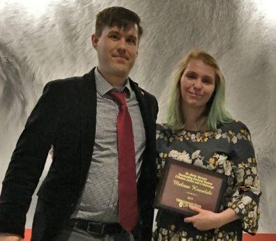 Dr. Zachary Hamilton and Melissa Kowalski.