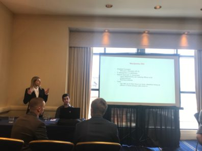 Isobel (Izzy) Luengas presenting at ACJS.