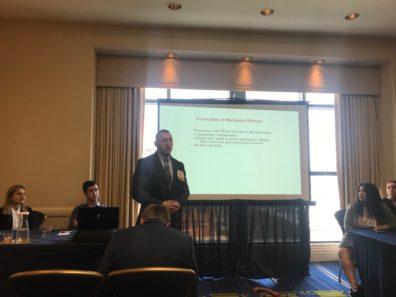 Jordan Sykes presenting at ACJS.