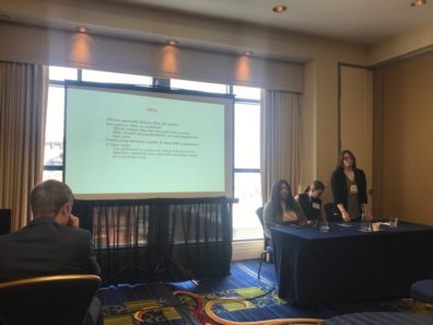 Jessica Pletsch presenting at ACJS.