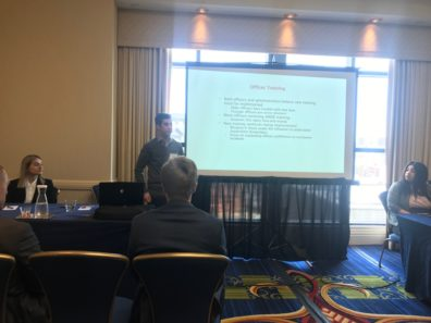Griffin Patrick presenting at ACJS.