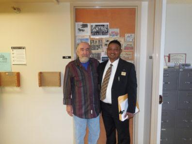 Alumnus Dr. Gassan Abess and Dr. Marenin after Dr. Abess final defense.