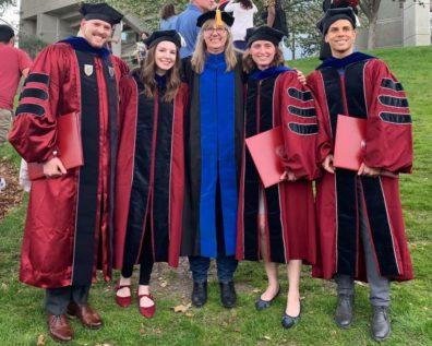Drs. Brandon Bang, Tasha Fox, Faith Lutze, Elizabeth Tollefsbol, & Wesley Maier.