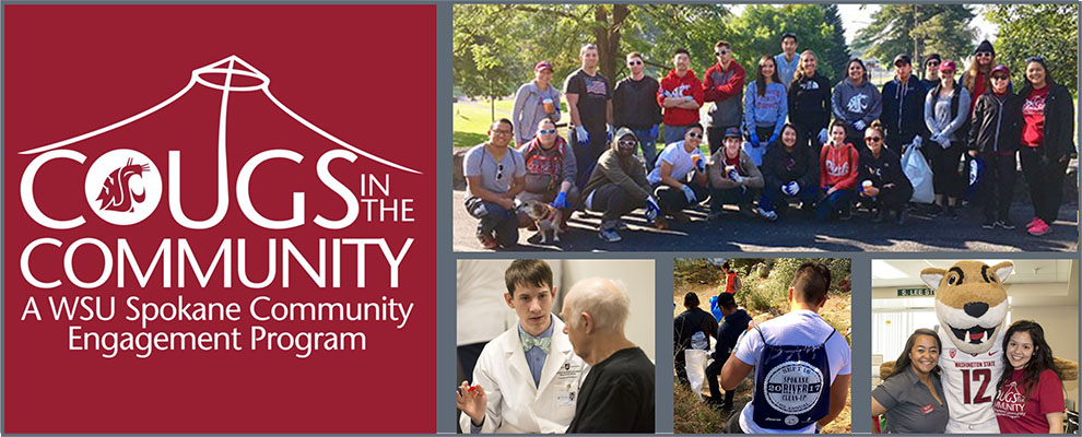 collage of cougs in the community