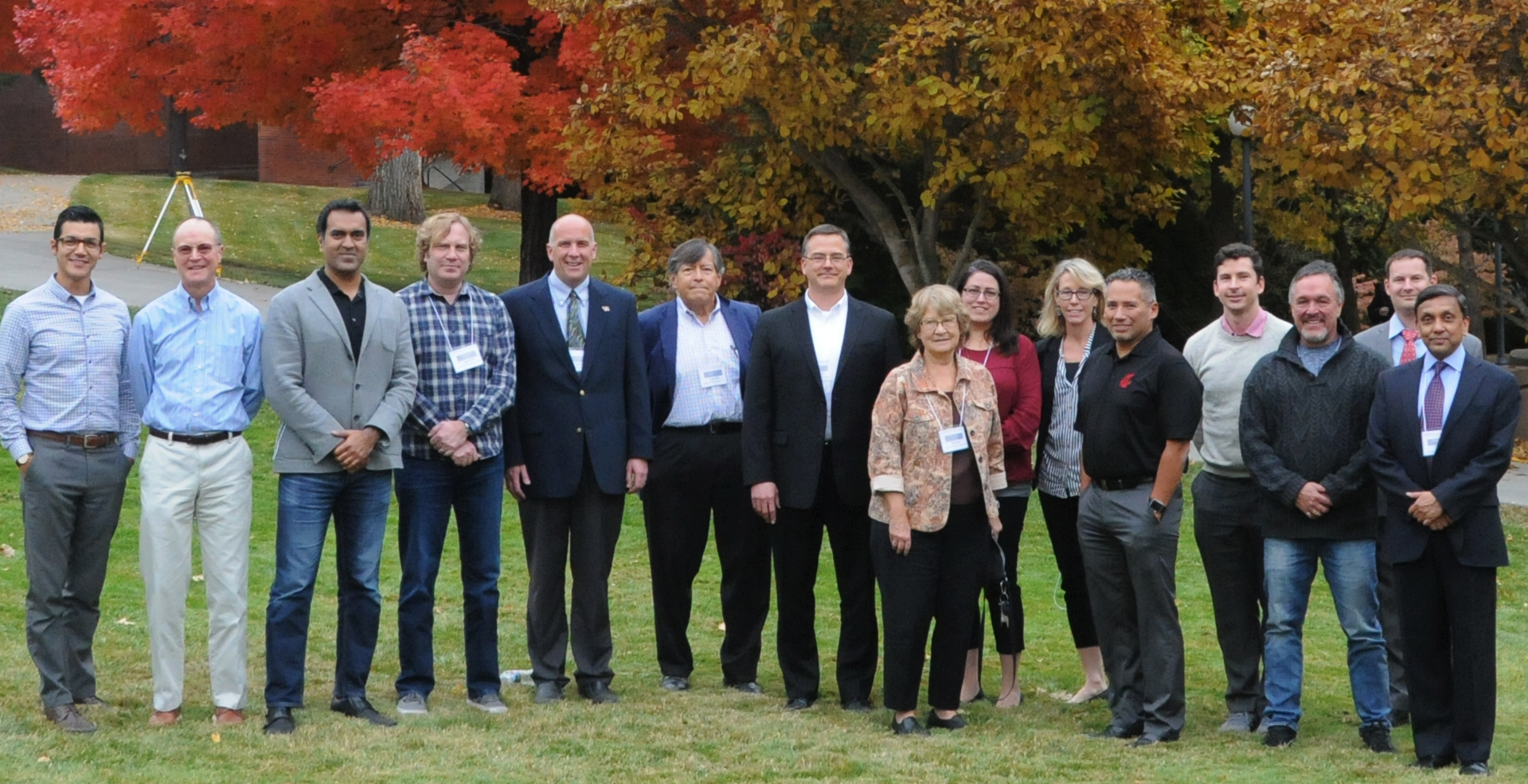 Group photo of fall 2018 advisory board
