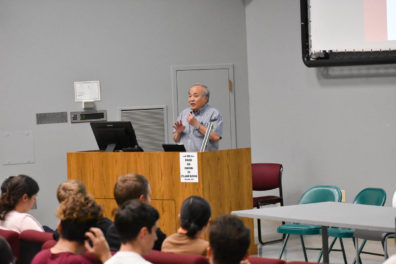 Jow-Lian Ding speaks to attendees of the Fall 2019 Mentoring Event