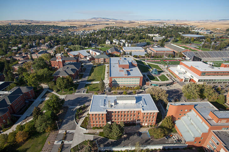 Aerial view of WSU Pullman Campus