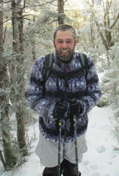 Nicholas Krebs in a snowy forest