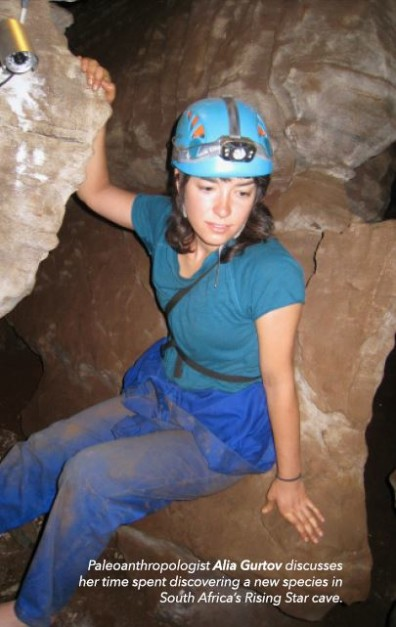 Paleoanthropologist Alia Gurtov discusses her time spent discovering a new species in South Africa's Rising Star cave.