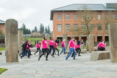 V-Day flash mob at WSU Vancouver, February 2016