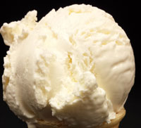 VanillaThick and creamy vanilla flavored ice cream