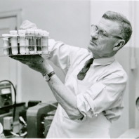 #5: In his WSC laboratory, N.S. Golding, on April 19, 1955.