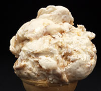 'Apple Cup' CrispVanilla flavored ice cream with apple flavoring, caramel, oatmeal cookies and spices