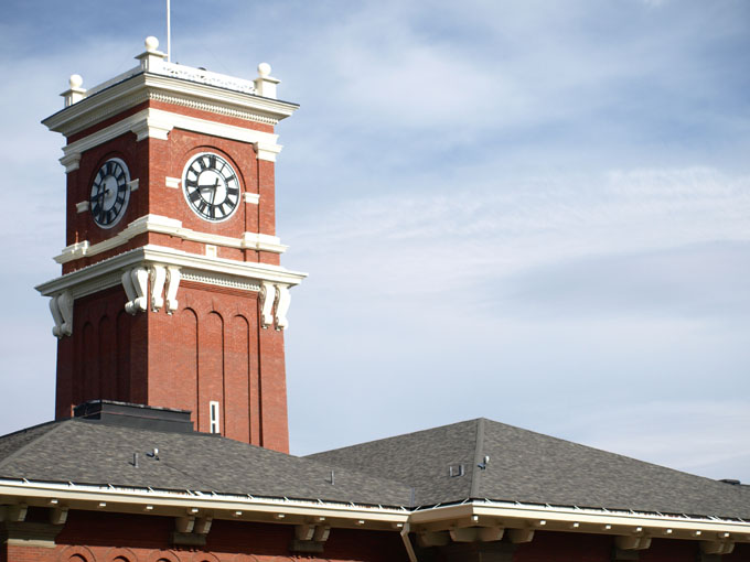 Photo of the WSU Clock Tower at Bryan Hall