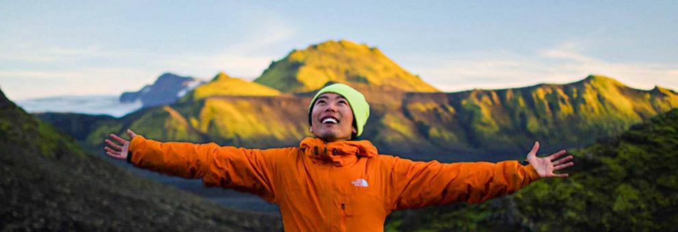 Scott Shigeoka studying abroad in Iceland.