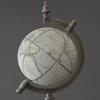 Artful photo of a terrestrial globe