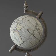 Artful photo of a terrestrial globe