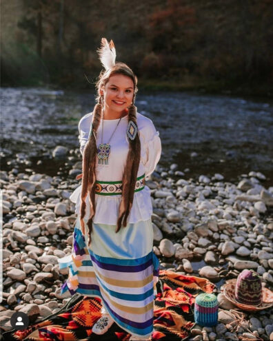 Frances Ward, recipient of a 2021 Udall Undergraduate Scholarship in the Native American Health Care category.