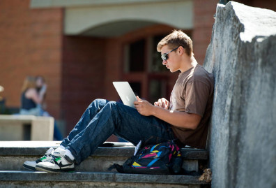 A_Good_Spot_for_a_Student_to_Study_on_the_Todd_Hall_Steps