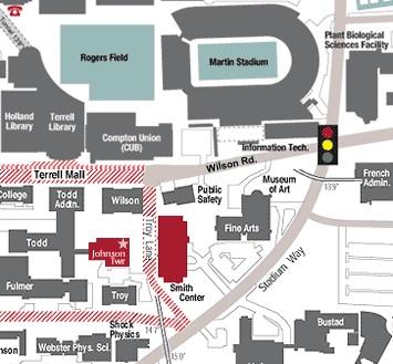 WSU campus map