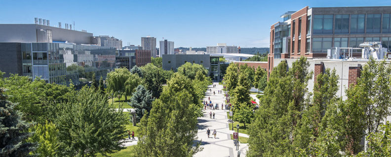 WSU Spokane campus in June