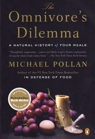 Book cover of Omnivore's Dilemma.