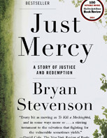 Book cover of Just Mercy: A Story of Justice and Redemption, by Bryan Stevenson.