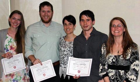 Graduate student award recipients