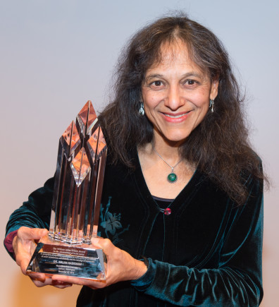 Nalini Nadkarni, PhD., gives a presentation after being awarded the 2015 William Julius Wilson Award on Monday, Nov. 30, 2015, at the Compton Union Building Auditorium in Pullman.