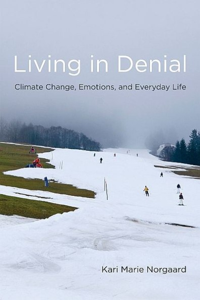 "The cover of Kari Norgaard's book, ""Living in Denial."""