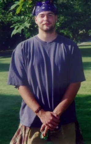 Aaron McCright at WSU Sociology's Welcome Picnic, 1996.
