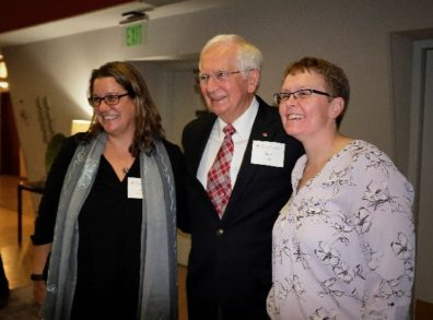 Leah Christian, Don Dillman, and Jolene Smyth standing together and smiling.