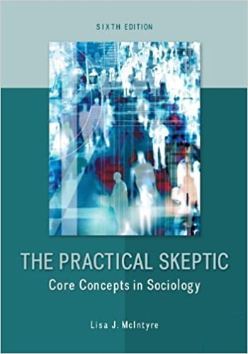 """A teal colored textbook called, """"The Practical Skeptic: Core Concepts in Sociology, Sixth Edition"""" by Lisa J. McIntyre."""