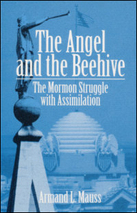 """The blue cover of """"The Angel and the Beehive""""."""