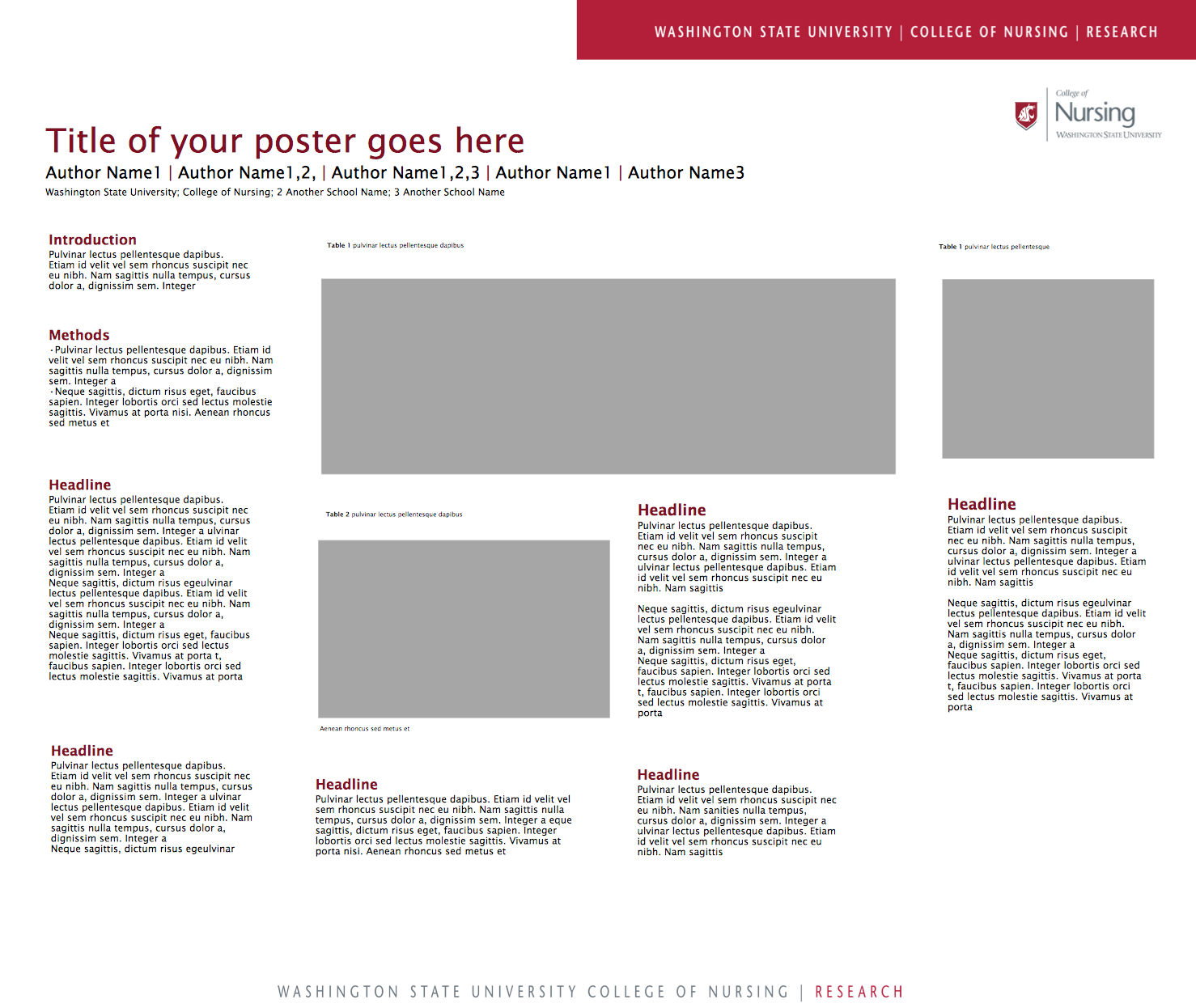 Powerpoint poster templates 48x36