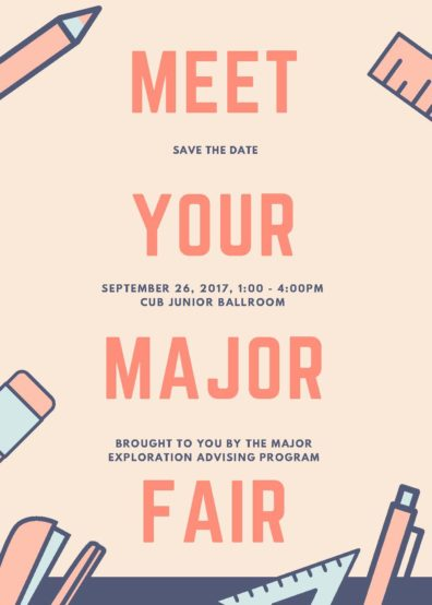 Meet Your Major Fair - flyer